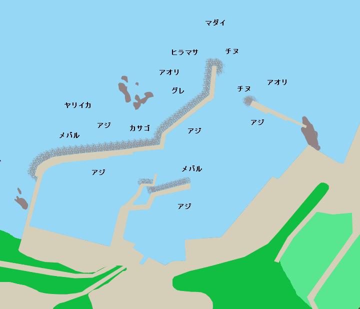 須津漁港ポイント図