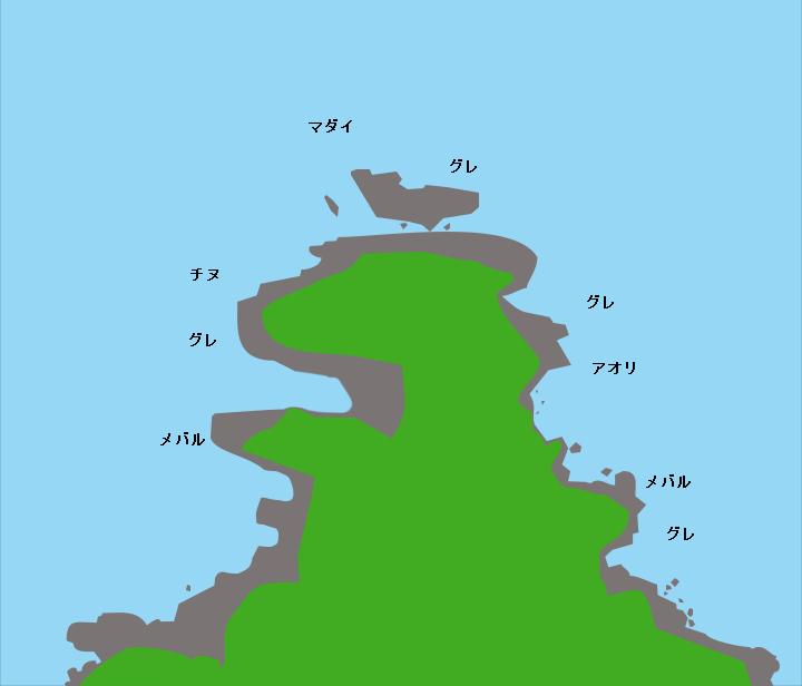 正面崎ポイント図