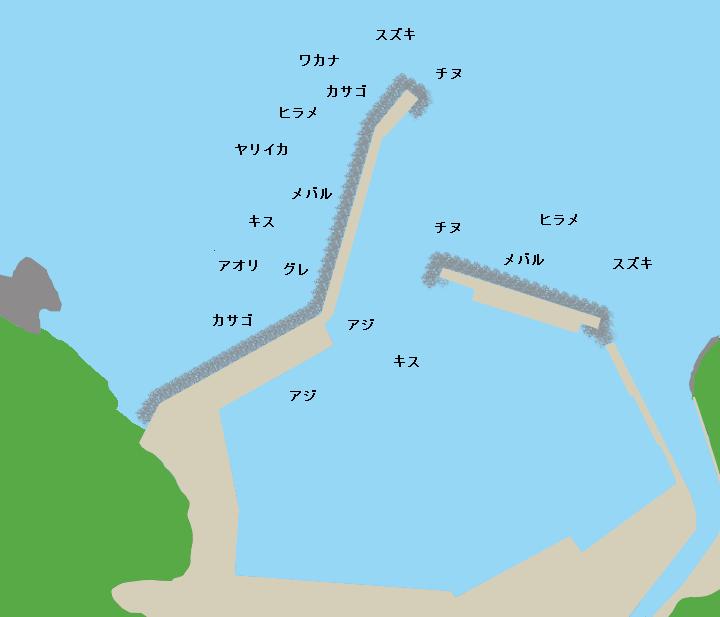 宅野港ポイント図