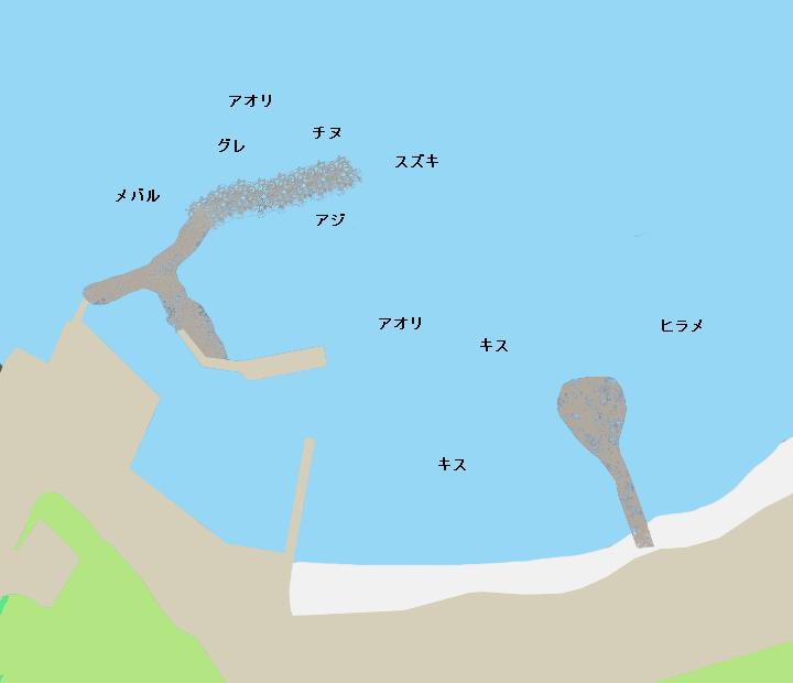 土田漁港ポイント図