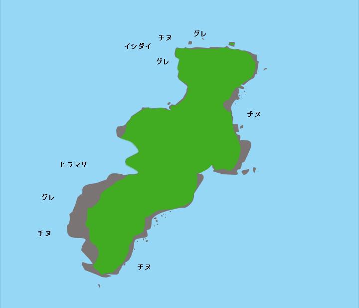 馬立島ポイント図