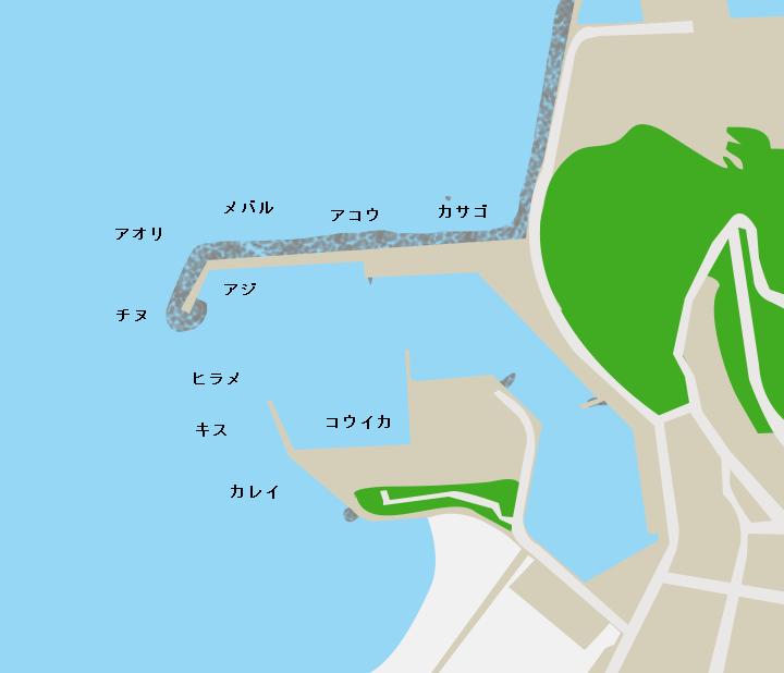 和田漁港ポイント図