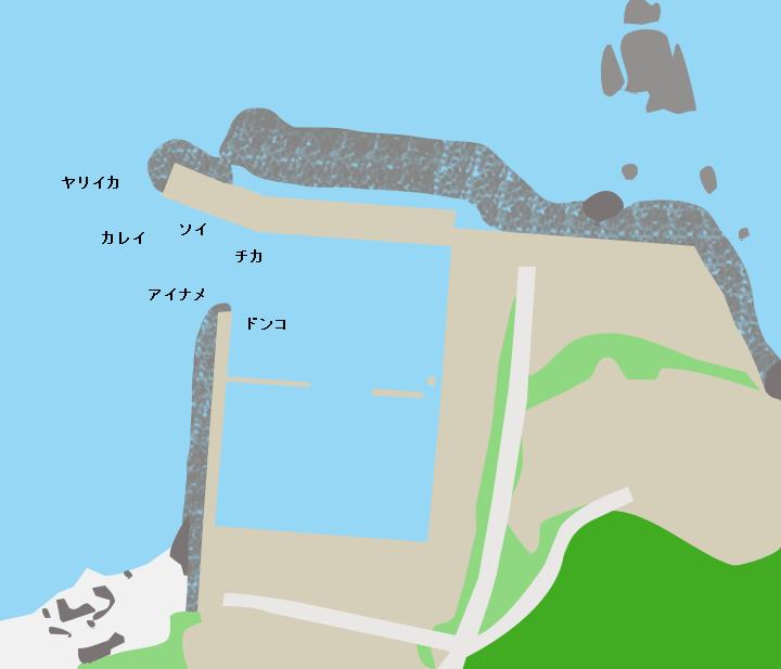 恵比須浜漁港ポイント図