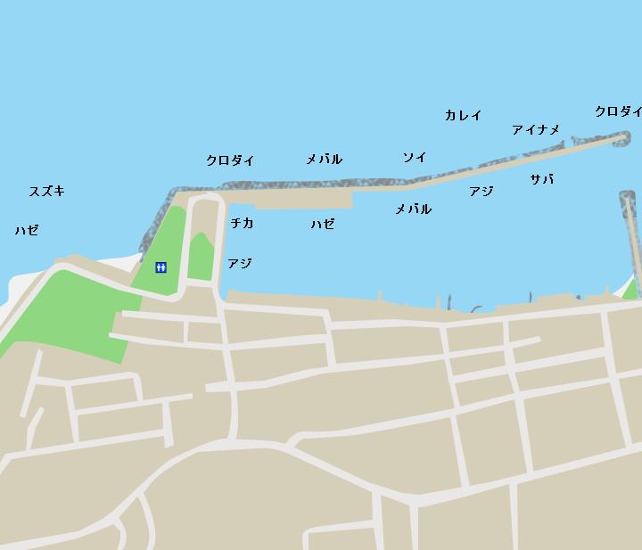 野内漁港ポイント図
