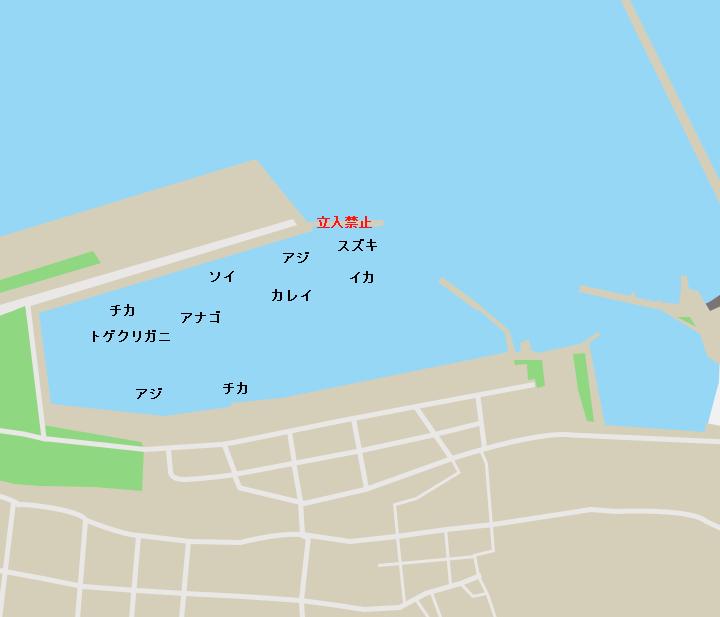 鮫漁港ポイント図