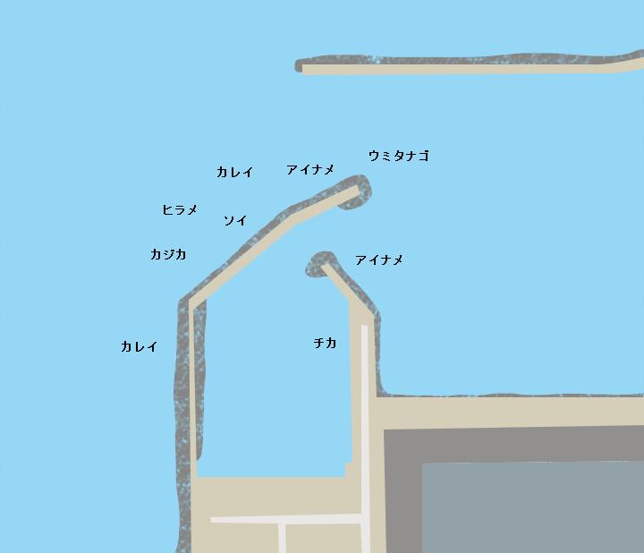 市川漁港ポイント図