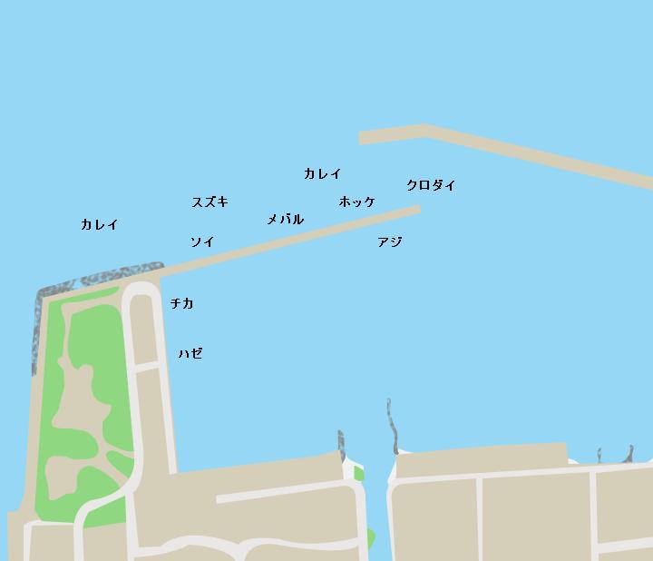 油川漁港ポイント図