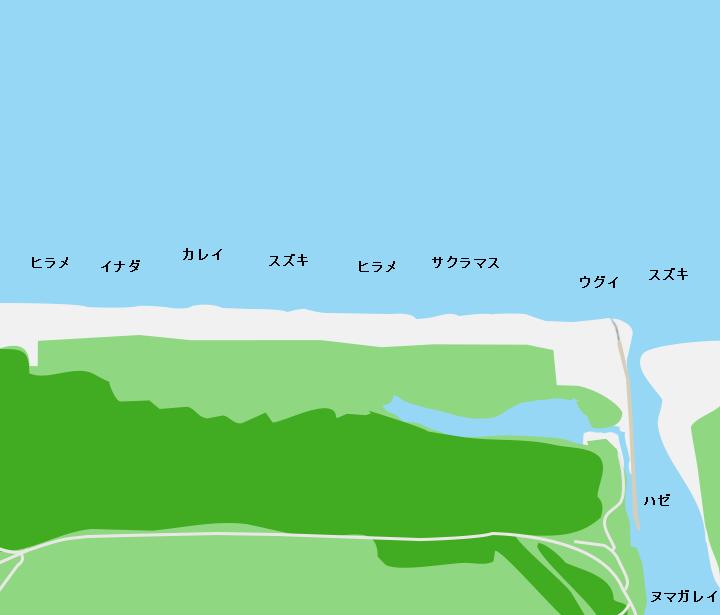 高瀬川河口ポイント図