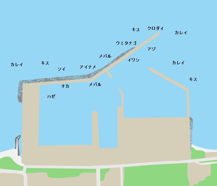 後潟漁港ポイント図