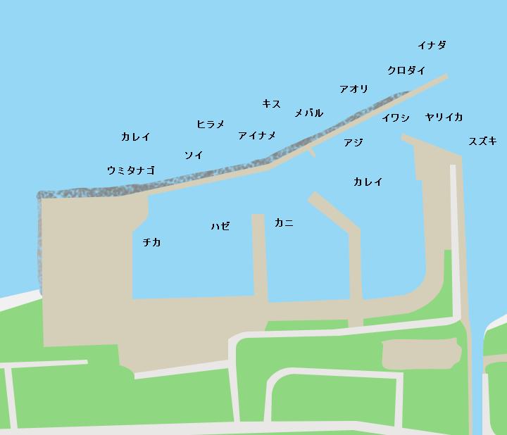 蓬田漁港ポイント図
