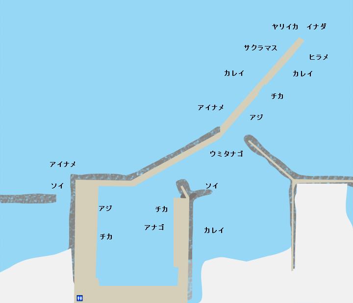 尾駮漁港ポイント図