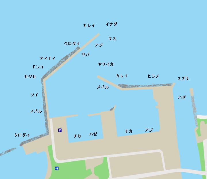 蟹田漁港ポイント図