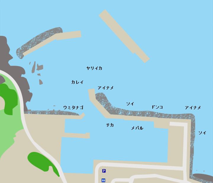 小舟渡漁港ポイント図