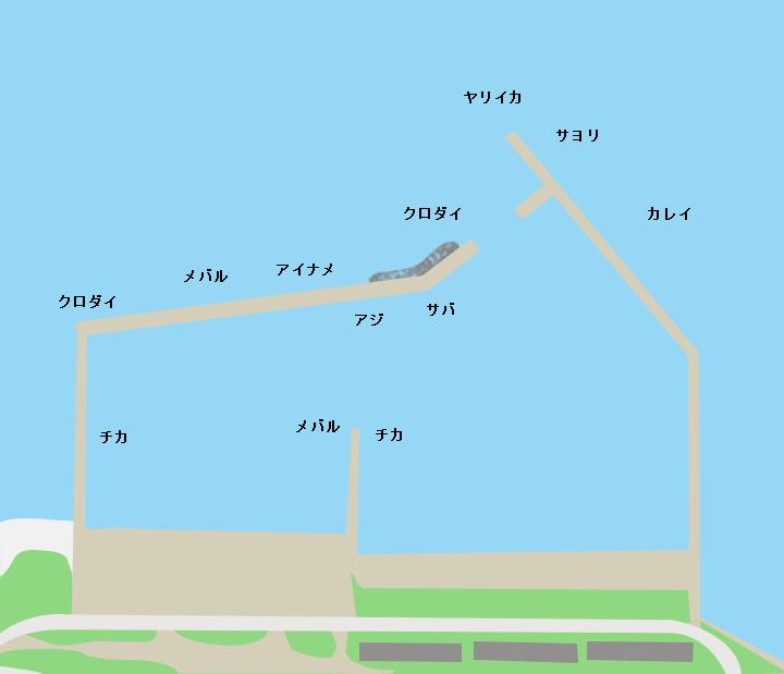 白砂漁港ポイント図