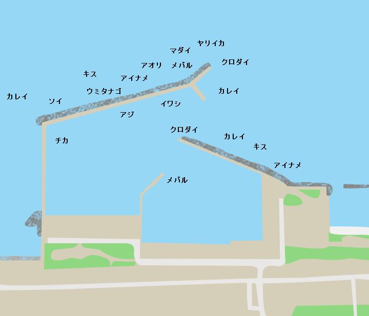 平舘漁港ポイント図