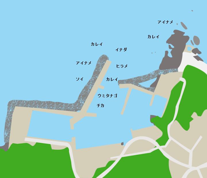 尻労漁港ポイント図
