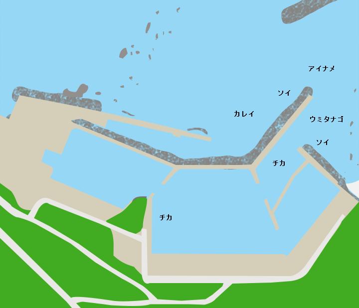 尻屋漁港ポイント図