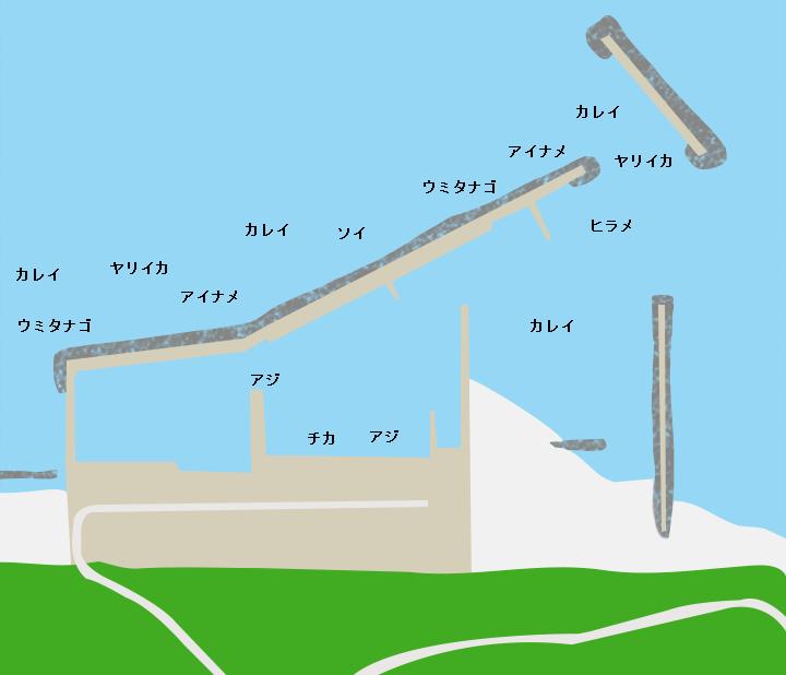 野牛漁港ポイント図