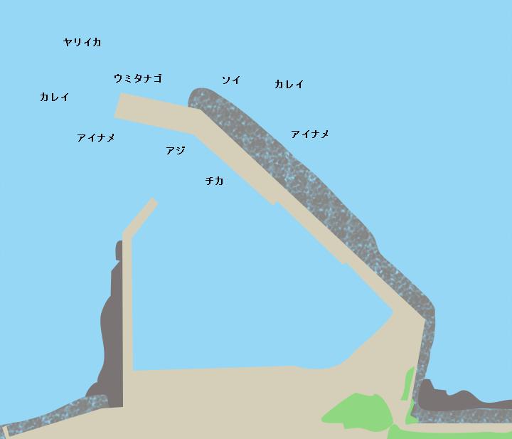 木野部漁港ポイント図