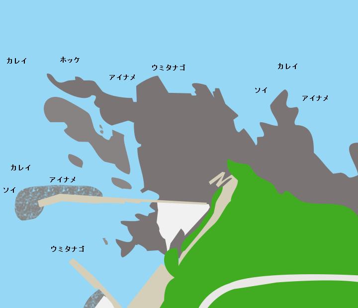 ちぢり浜ポイント図