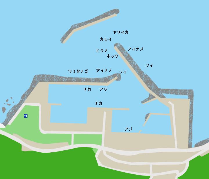 下風呂漁港ポイント図