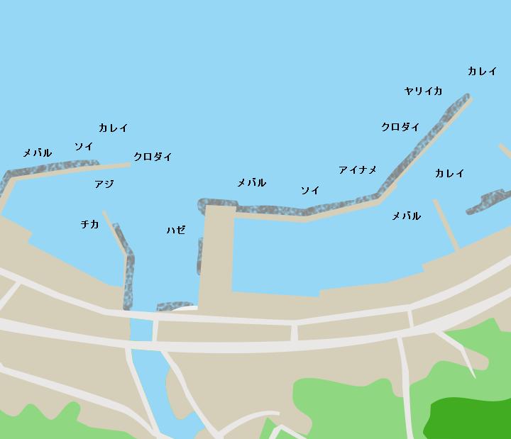 東田沢漁港ポイント図