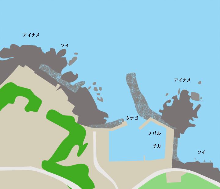 榊漁港ポイント図
