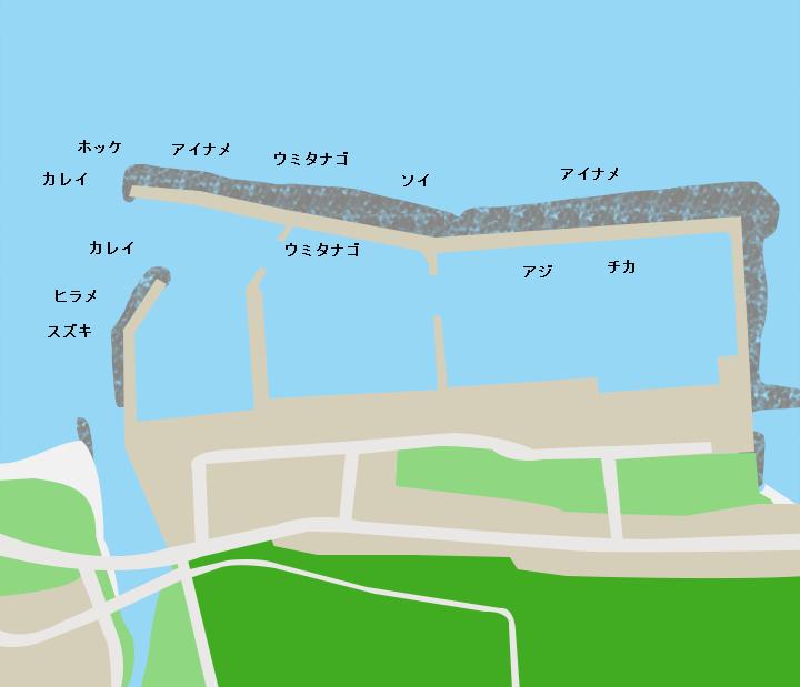 易国間漁港ポイント図
