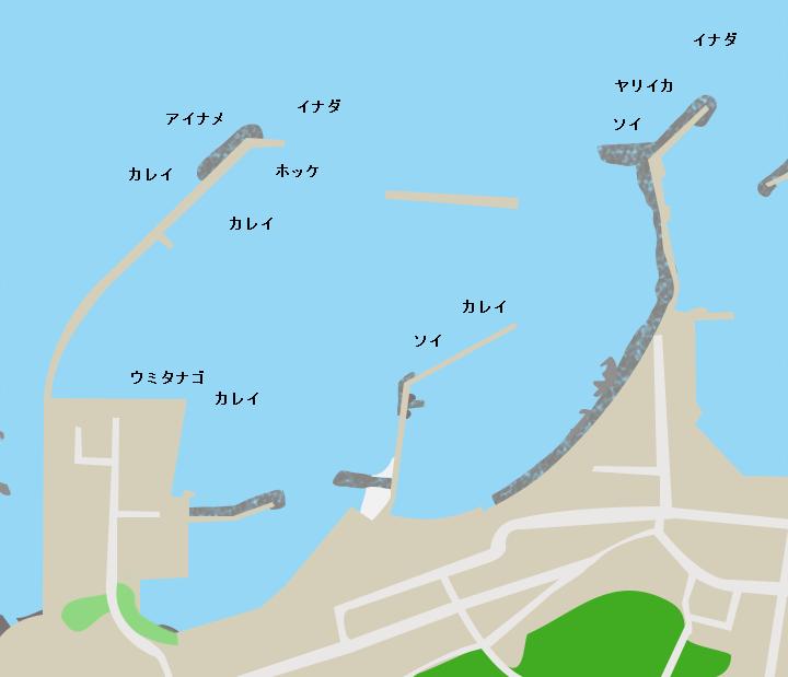大間港ポイント図