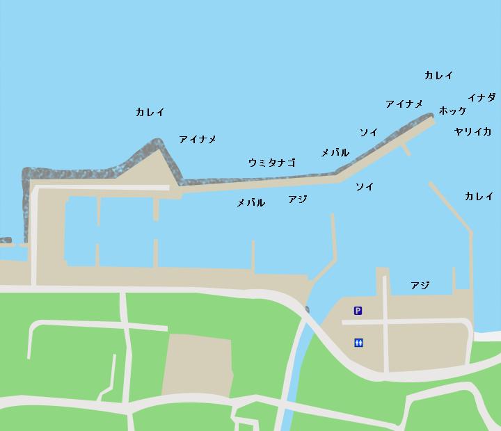 佐井漁港ポイント図