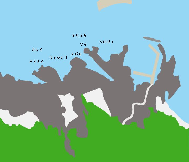 仏ヶ浦ポイント図