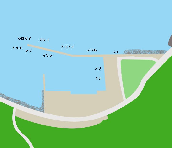 蛸田漁港ポイント図