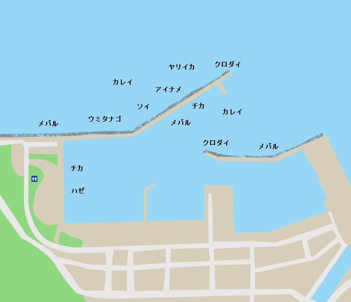 脇野沢漁港ポイント図