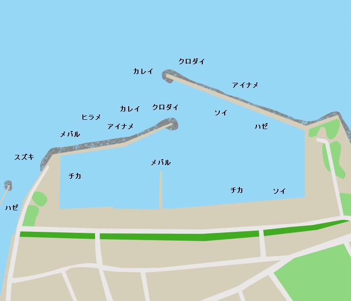 川内港ポイント図