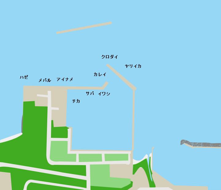 大平漁港ポイント図