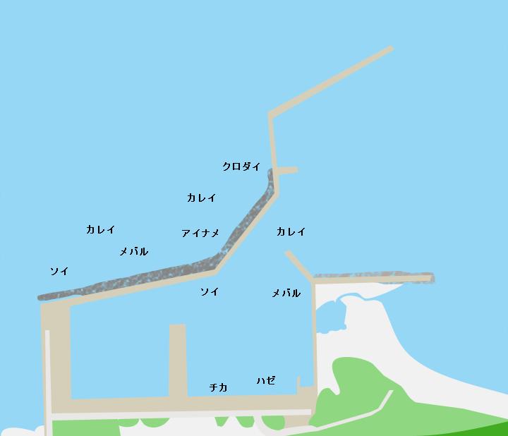 浜奥内漁港ポイント図