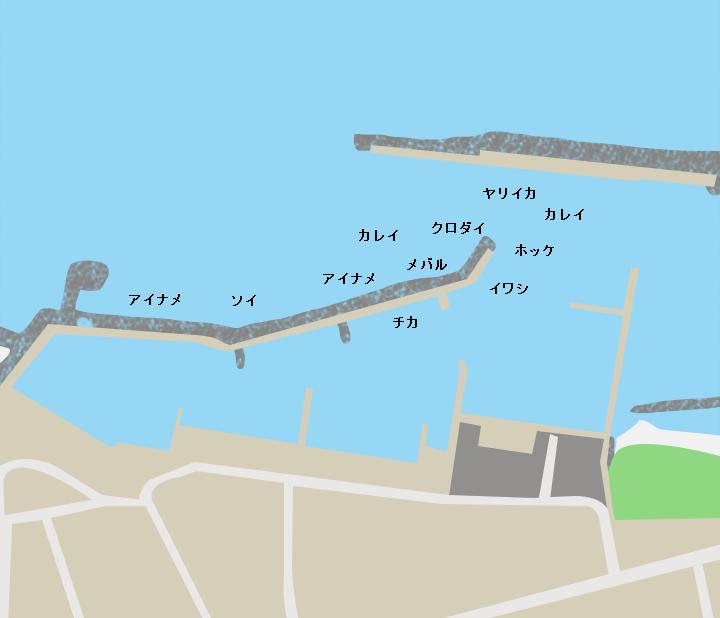 陸奥横浜漁港ポイント図