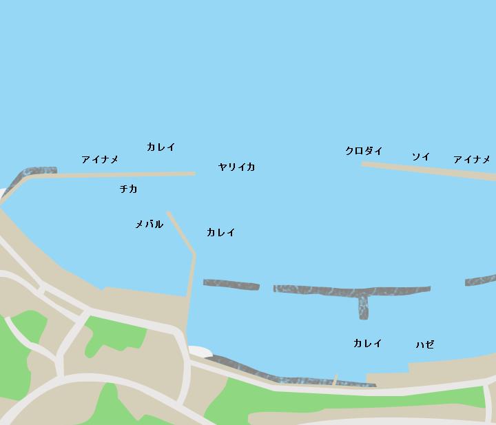 清水川漁港ポイント図