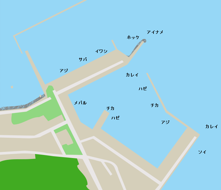 小湊漁港ポイント図