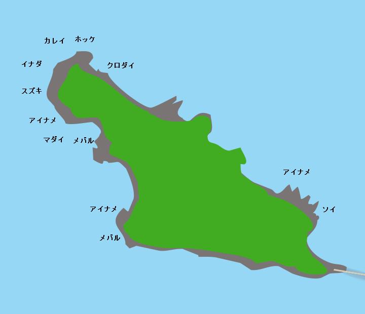 夏泊大島ポイント図
