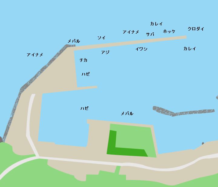 東滝漁港ポイント図