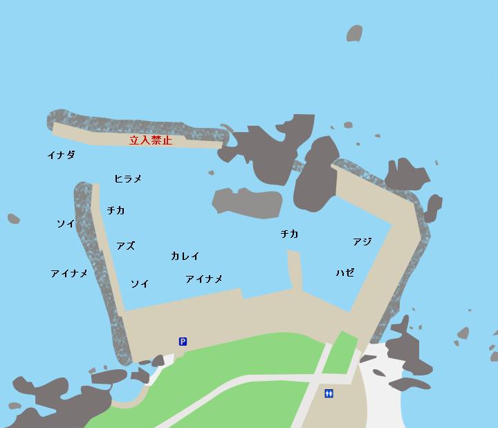 大久喜漁港ポイント図