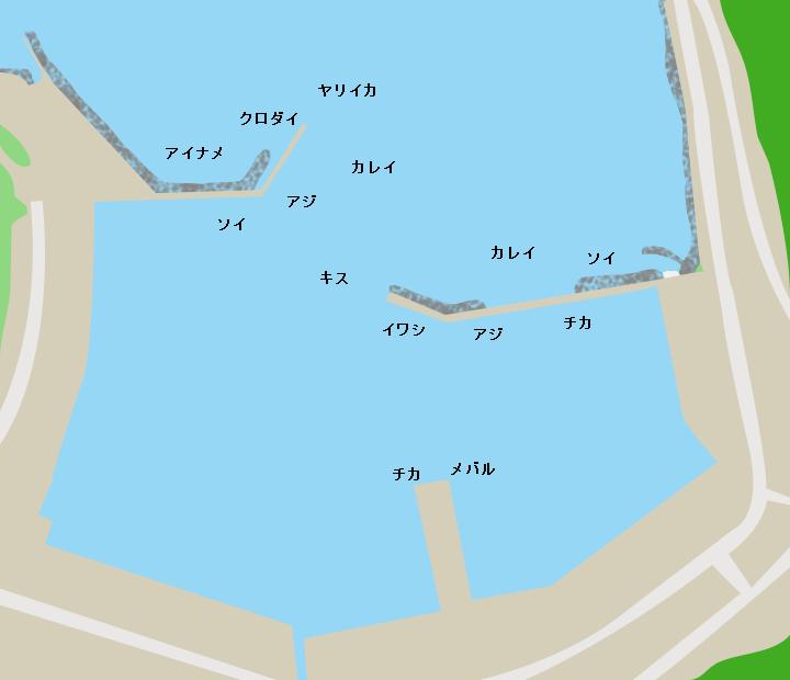 茂浦漁港ポイント図