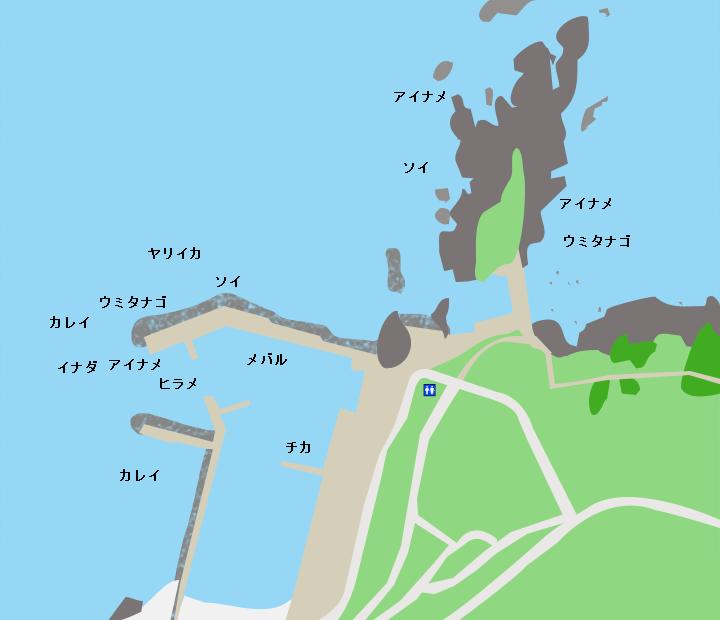 種差漁港ポイント図