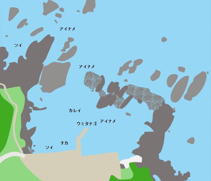 深久保漁港ポイント図
