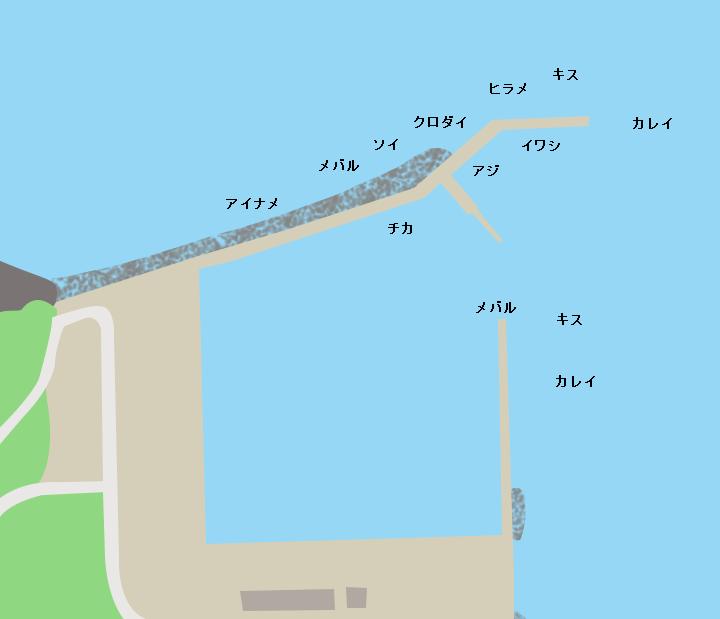 波打漁港ポイント図
