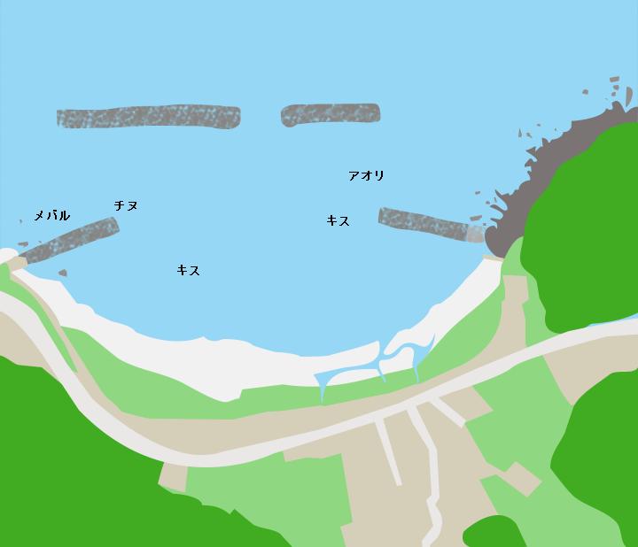江良海水浴場ポイント図