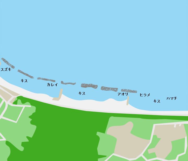 浜地海岸ポイント図