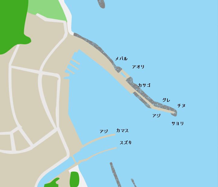 早瀬漁港ポイント図