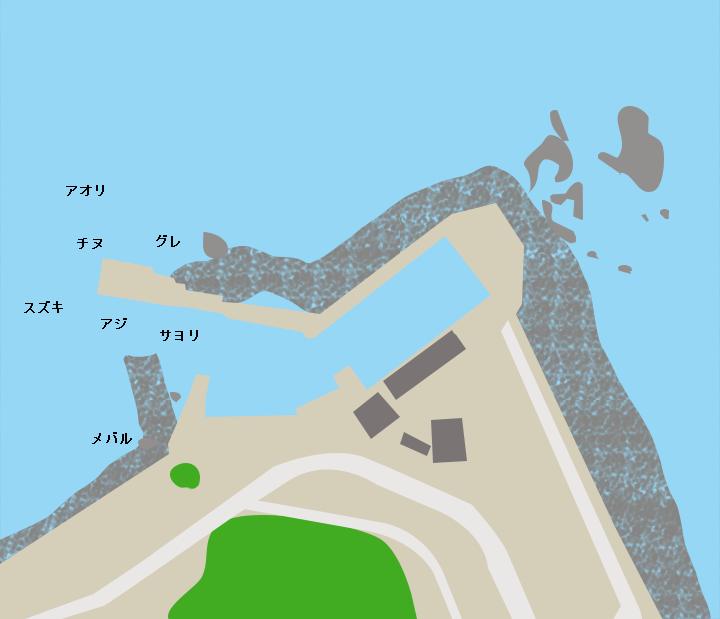 米ノ浦漁港ポイント図